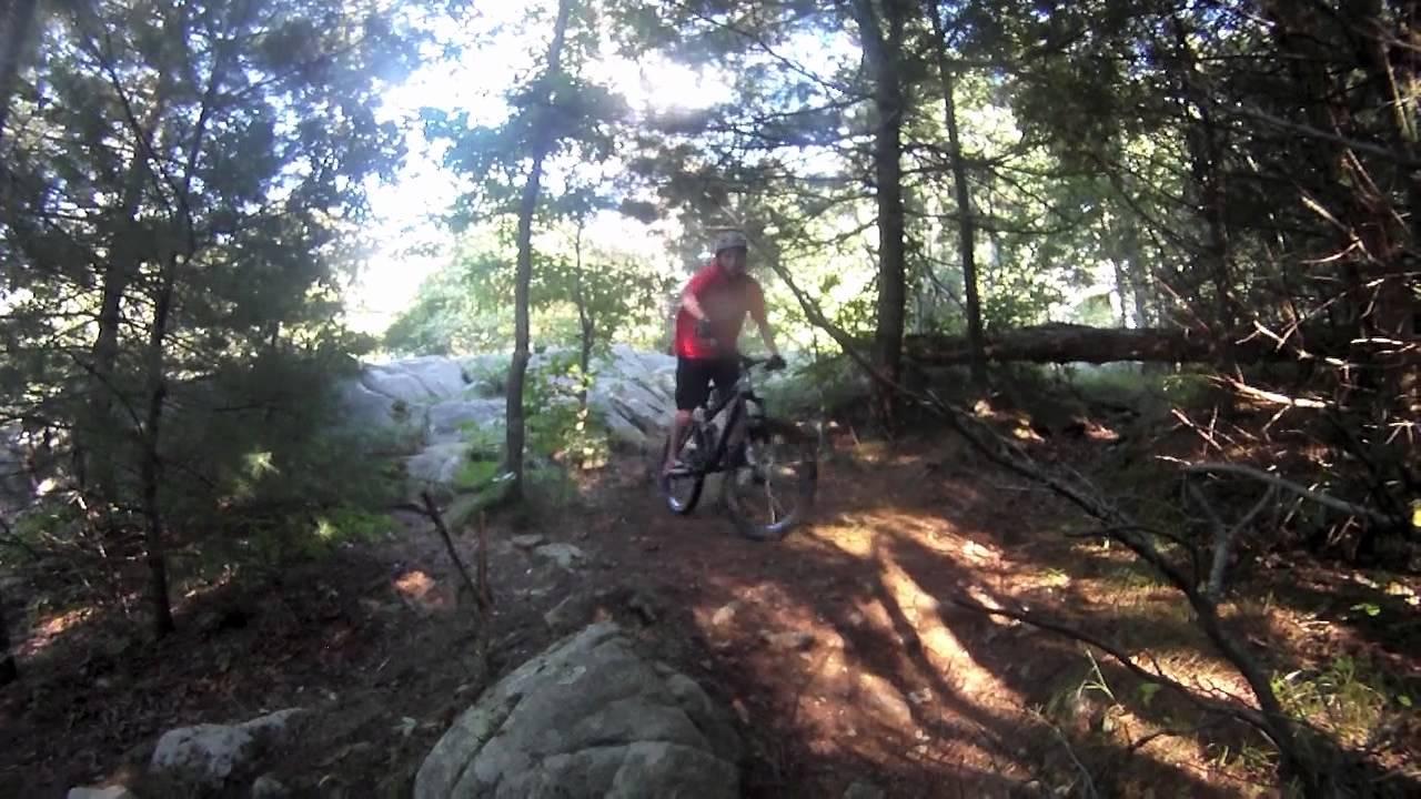 Free ride mountain biking in Wompatuck state park - YouTube