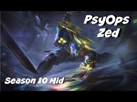 League of Legends: PsyOps Zed Mid Gameplay