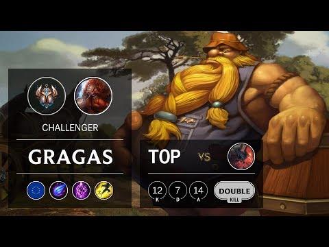 Gragas Top vs Aatrox - EUW Challenger Patch 9.23