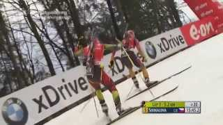 12.01.2014 Biathlon Ruhpolding Verfolgung Damen Winner Gabriela Soukalová