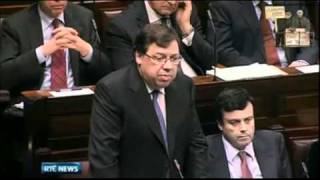 Brian Cowen talks about Golf Gate in Dáil Éireann