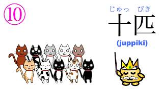 How to Count in Japanese Part 3 - Counting small animals using 匹 (hiki)