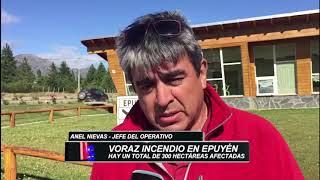 VORAZ INCENDIO EN EPUYÉN: EL FUEGO YA HABRÍA ALCANZADO MÁS DE 300 HECTÁREAS