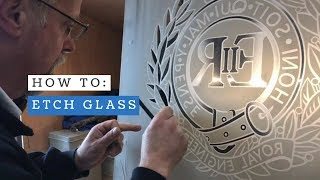 How To: Etch Glass - Sand Blast Carving Technique - Royal Engineers Cap Badge