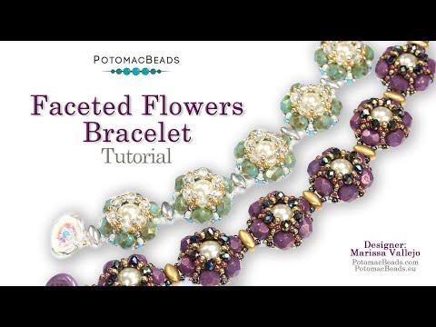 Faceted Flowers Bracelet Design (DIY Tutorial)
