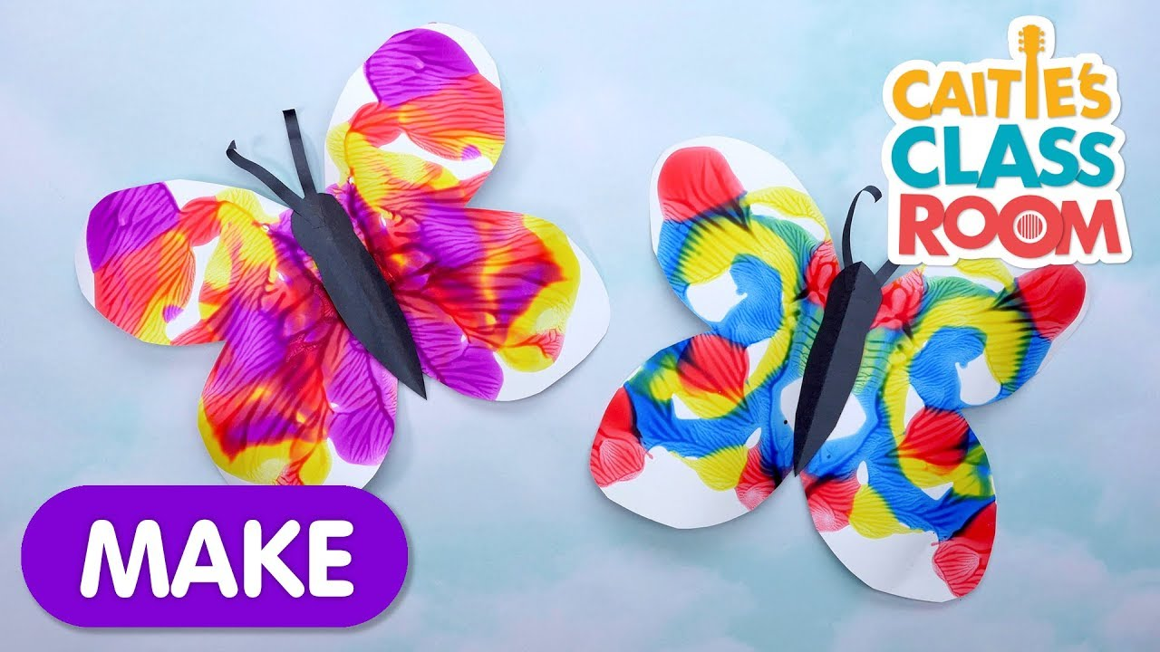 Symmetrical Butterfly Painting | Caitie's Classroom | Learning Videos For  Kids - YouTube