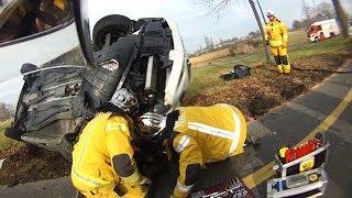 Pompiers Genève - Accident de circulation à Meinier