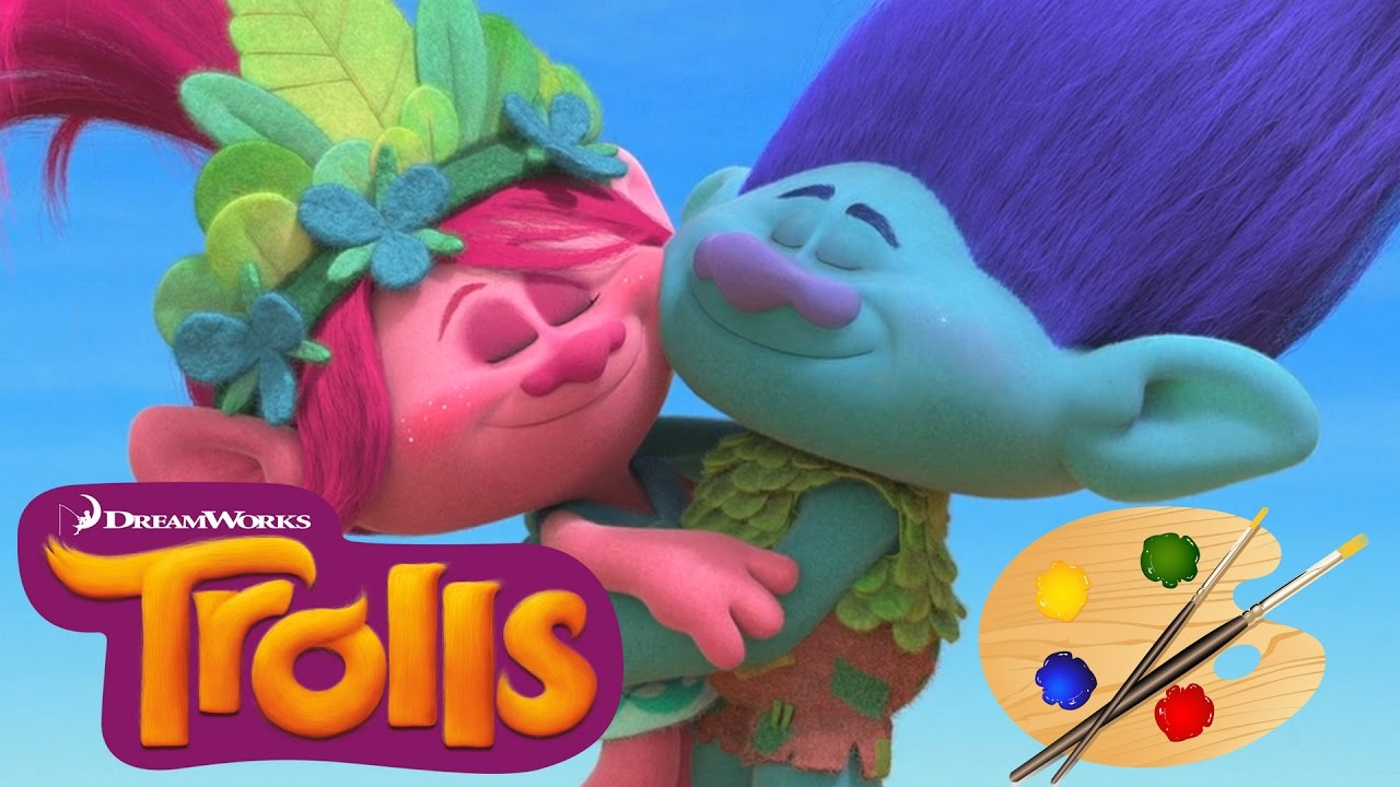 Trolls Movie Coloring Poppy And Branch Kids Book