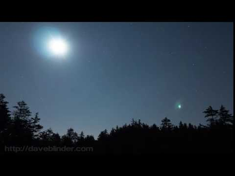 New Jersey Pinelands Moonrise time-lapse with Eastern Screech Owl calling