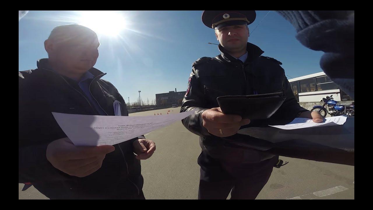 Сдача экзамена Мото 2017 (категория А) в ГИБДД Санкт-Петербург / Motorcycle Driving Test in Russia