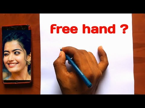 free hand Outline Drawing | how to draw/ sketch outline | step by step | face measurement| ✍️