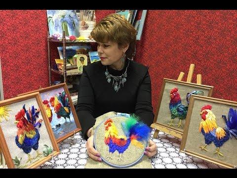 ПЕТУХ -- ШКОЛА ВЫШИВКИ ЛЕНТАМИ  Татьяны Шелиповой / How to Make  Cock