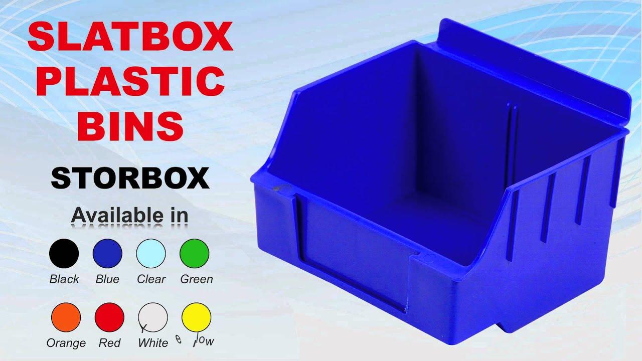 Storbox Slatwall Plastic Bins