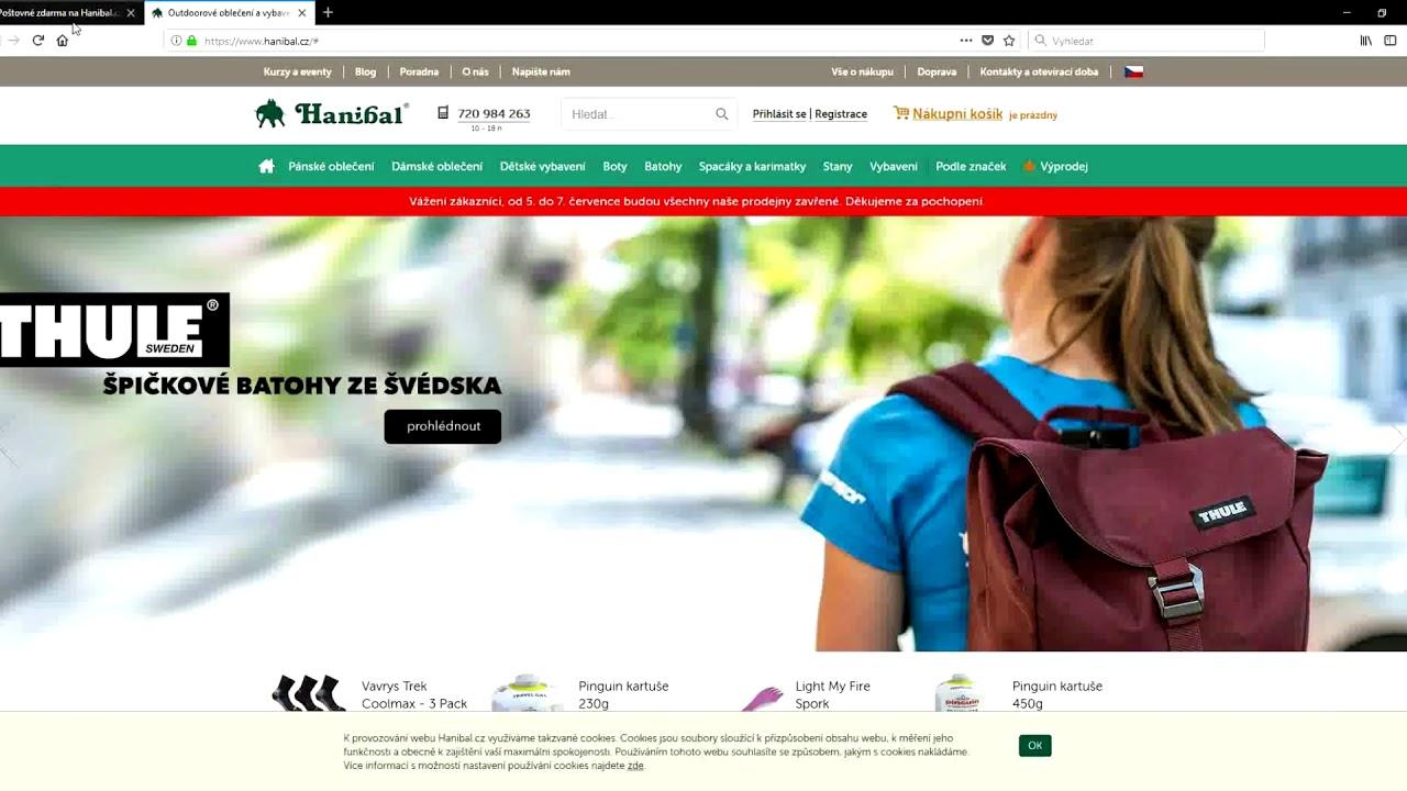 9a0e2ca0a4 Hanibal.cz slevový kupón - Slevovykupon.net