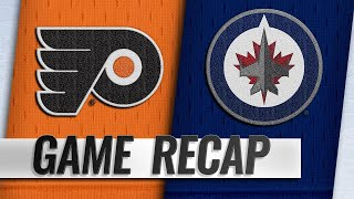 Jets score seven in rout of Flyers