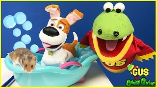 Gus Takes Care of Pets Pretend Play Toys Compilation