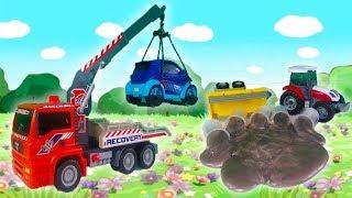 Мультик про Машинки для детей - Трактор потерял Слайм - Пожарная машина тушит пожар