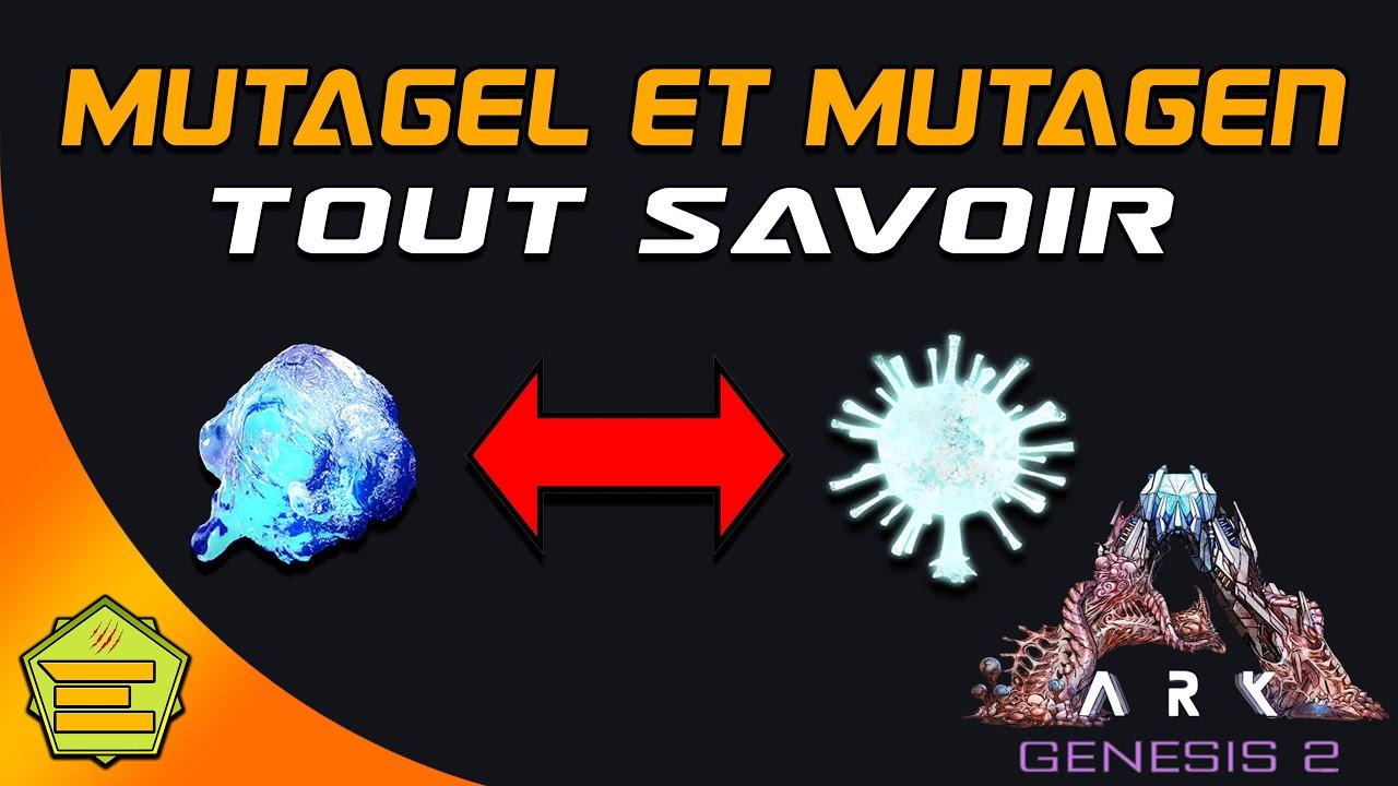 Mutagel et mutagen guide - faire évoluer les créatures - farm - utilisation - Genesis 2 ARK