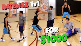 HEATED 1v1 NELLY FIGHT KEV FOR $1000 AND SHAVED HEAD!!