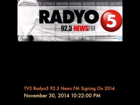 TV5 Radyo5 92.3 News FM Signing On 2014