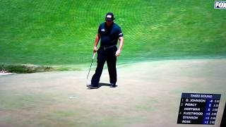 Phil Mickelson putts moving ball, 2018 US Open