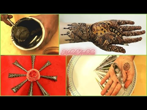 Most Requested | How I make My Mehndi Cone | DIY Henna Mehendi Tattoo Perfect Cones Recipe|Making