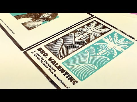 BRO. VALENTINO - The Making of The Silk-Screen Printed Cover / Available Now on Bandcamp
