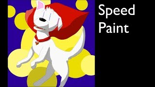 Krypto the Super dog Speed Paint