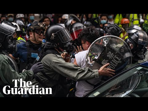 Hong kong police fire teargas as thousands rally against China's new security law