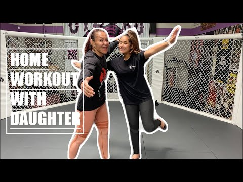 Home Fitness Workout Cris Cyborg With Daughter