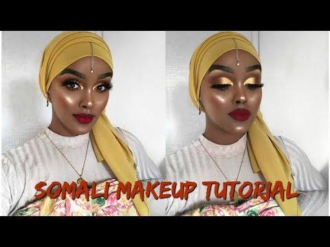 MAKEUP TUTORIAL SPEAKING SOMALI | Makeupka Baro | Edna