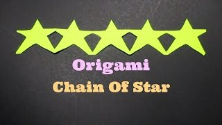 Chain Of Stars - How To Make A Chain Of Stars With Paper Strips