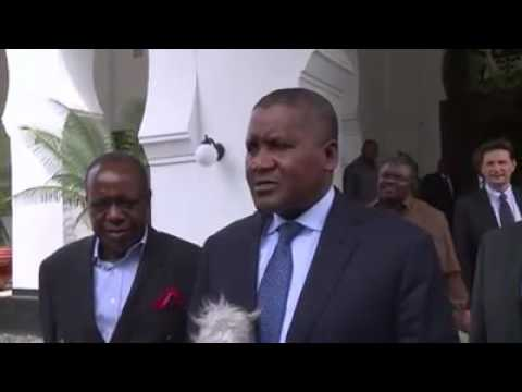 At last Dangote is free with his business in Tanzania