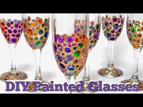 How To Paint Wine Glasses | Painting Glasses For Brunch Mimosas