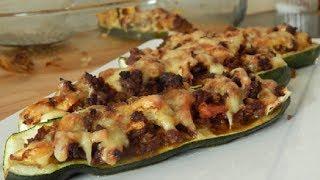 arabisch kochen: gefüllte zucchini mit Hackfleisch