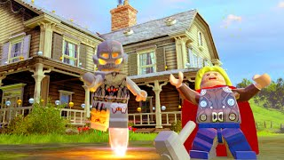 Lego Marvels Avengers Bartons Farm Hub All Character Tokens/Gold Bricks/Collectibles