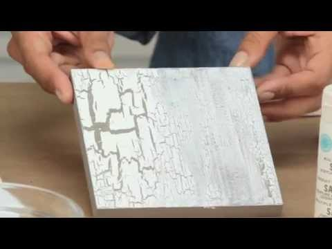 How To Use Martha Stewart Crackle Effect Paint   YouTube