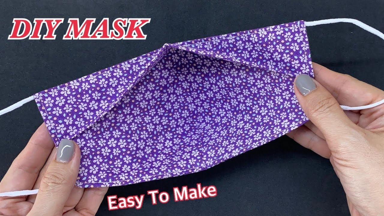 Diy New Design Face Mask Easy To Make Sewing Tutorial | Quick & Easy Pattern 3D Mask No Fog On Glass