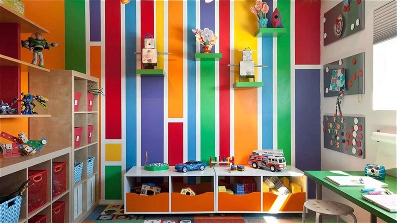 Colorful And Pattern Kids Room Paint Ideas - YouTube