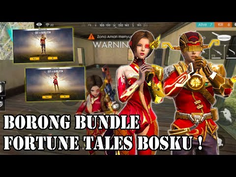 BORONG BUNDLE FORTUNE TALES BOSKU ! - FREE FIRE INDONESIA