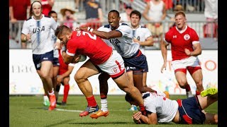 USA vs Canada ( Highlights - Rugby World Cup 2019 Qualifying )