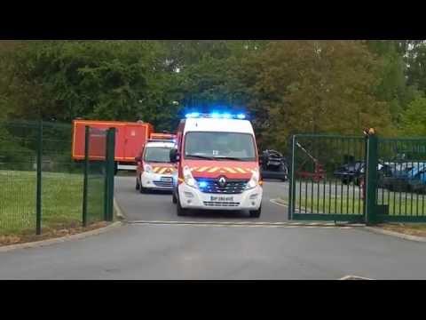 Départ VSAV 1 + VLSSSM Liévin (62, Pompiers du Pas-de-Calais)