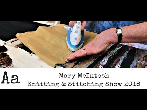 ** Learn How To ** Alter Fabrics Using Paints & Transfoils With Mary McIntosh | Mixed Media Artist
