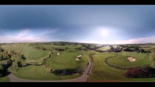 Aerial Drone 360 Video - UK - Golf 360