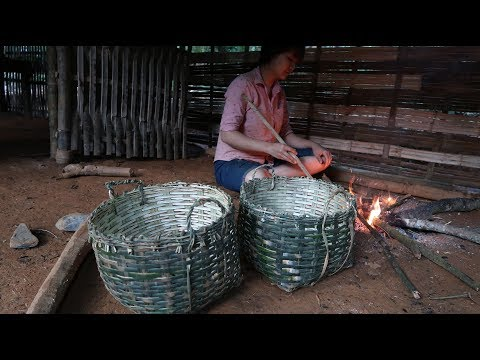 Primitive Technology: Bamboo Baskets (used for containing soil, digging wells) Primitive-Life