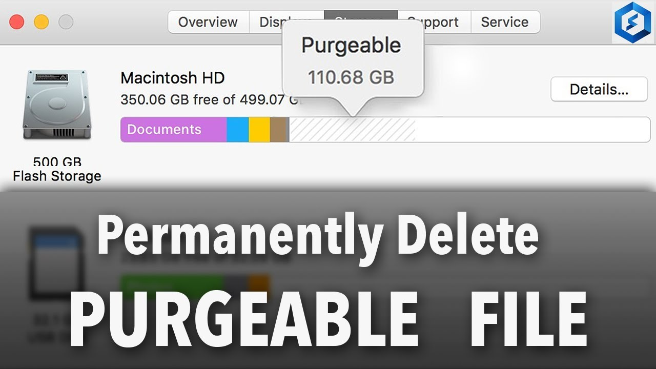 How To Permanently Delete PURGEABLE Files on Mac OS, Other File & Optimize  Storage Videos