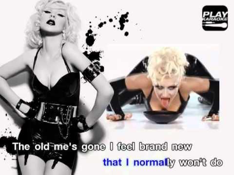 Christina Aguilera - Not Myself Tonight (Karaoke).avi