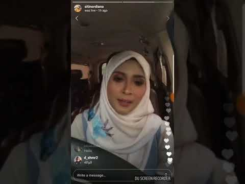 Instagram live with Siti Nordiana