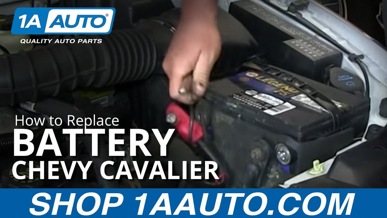 medium resolution of how to install replace dead battery 1995 05 chevy cavalier