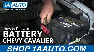 How To Install Replace Dead Battery 1995-05 Chevy Cavalier